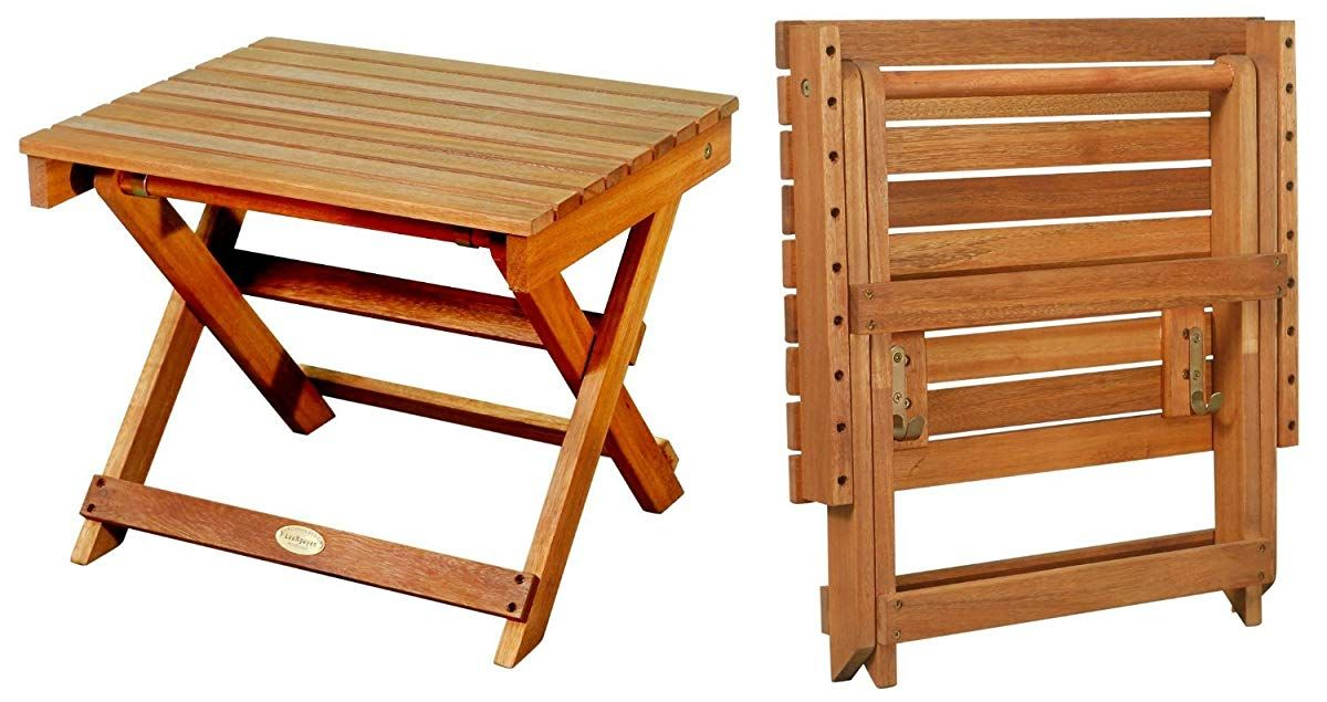 Folding Side Table Natural Wood Finish Foldable Picnic Table Wooden Picnic Tables Small Outdoor Table