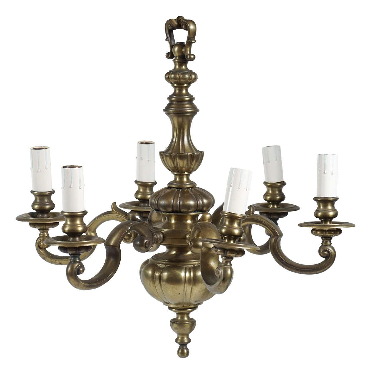 Edwardian period english baroque style bronze six light chandelier edwardian period english baroque style bronze six light chandelier circa 1905 from a unique collection of antique and modern chandeliers and pendants at mozeypictures Gallery