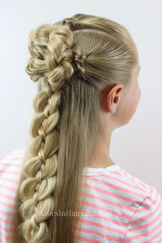 Braid u knot halfup combo babes in hairland tutorials
