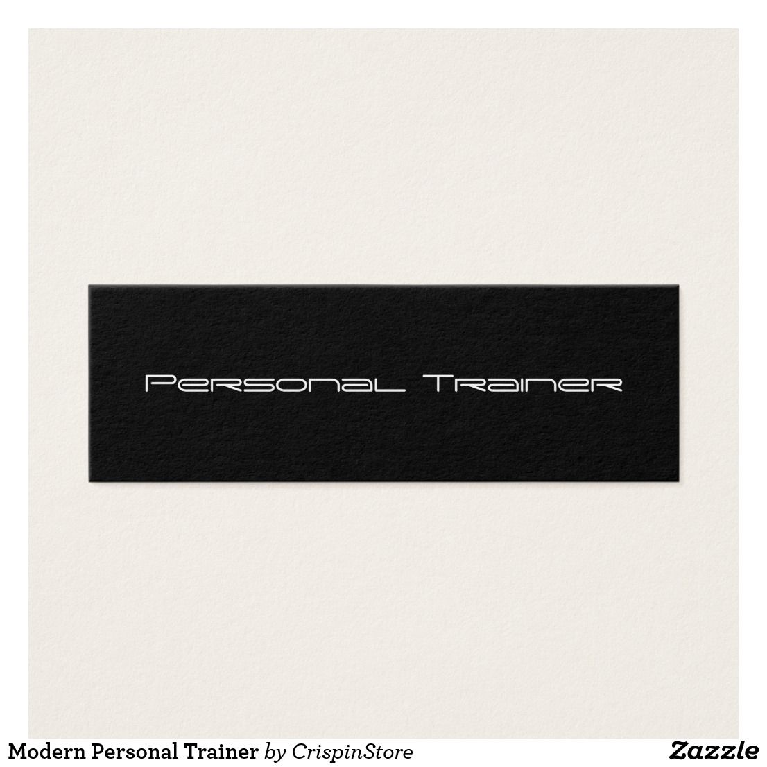 Modern Personal Trainer minimalist business card. | Businesscard ...