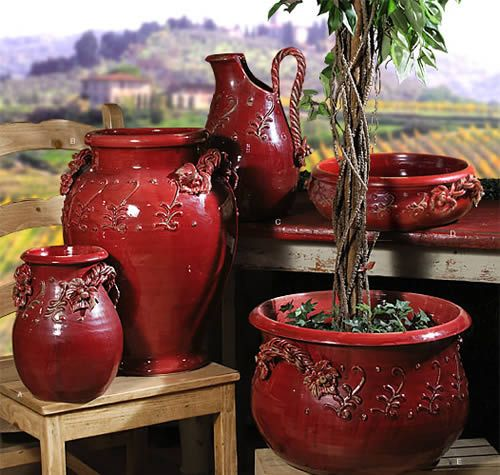 Majolica Red Pottery....be Still My Heart