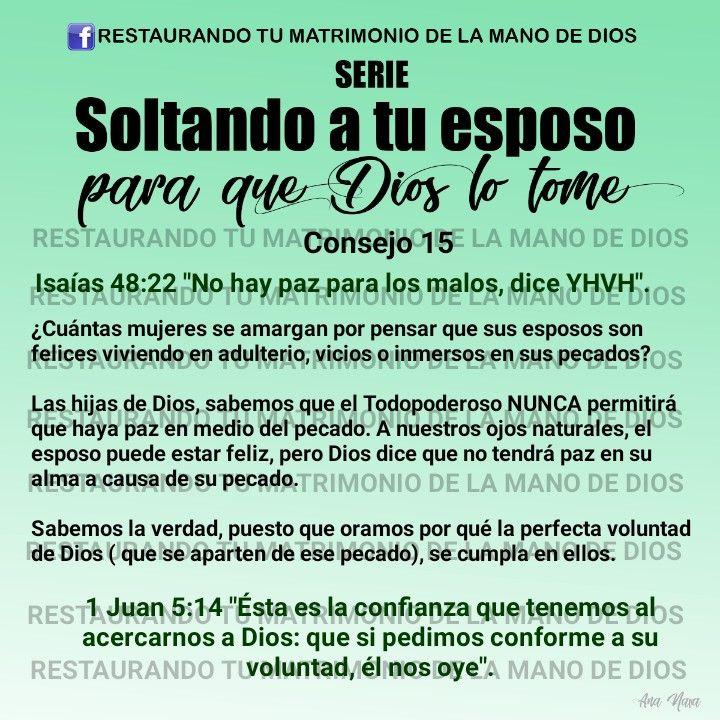 Consejos Para Soltar A Ti Esposo En Lqs Manos De Dios En 2020 Orar Por Mi Esposo Mano De Dios Matrimonio Dios