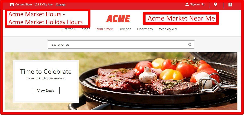 Acme market store hours