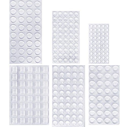 a9c543dea7a Outus 254 Pieces Clear Rubber Feet Bumper Pads Adhesive Transparent Buffer  Pads Cabinet Door Bumpers Self Stick Noise Dampening P…