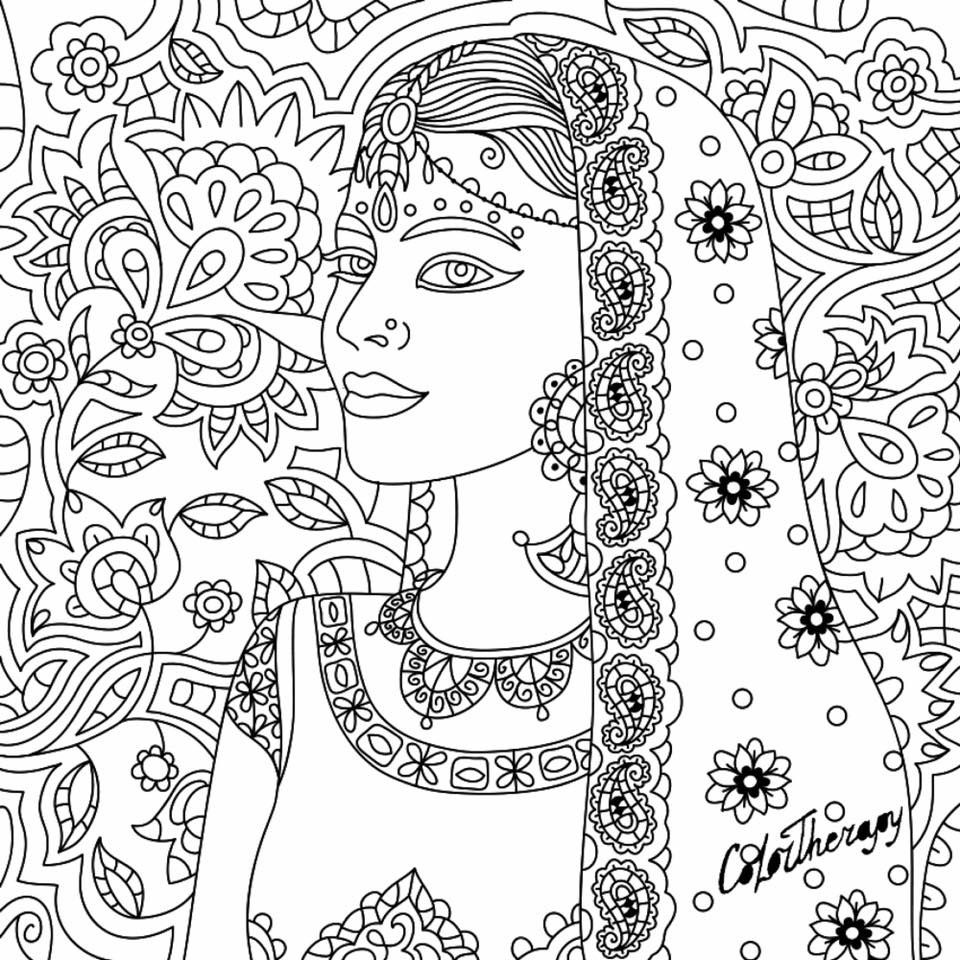 Fresh Indian Coloring Book