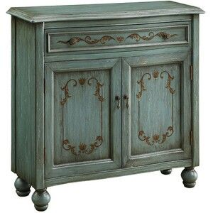 Patina painted cabinet