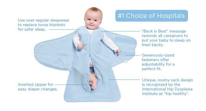 brand new 04a29 ce88e Best Swaddle to get Baby to Sleep: Halo SleepSack Swaddle ...