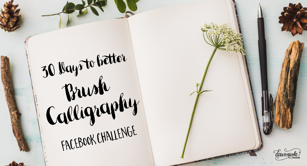30 days to better brush calligraphy calligraphy calligraphy video