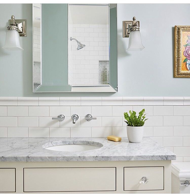 another photo from our customers such a classic and clean bathroom rh pinterest com