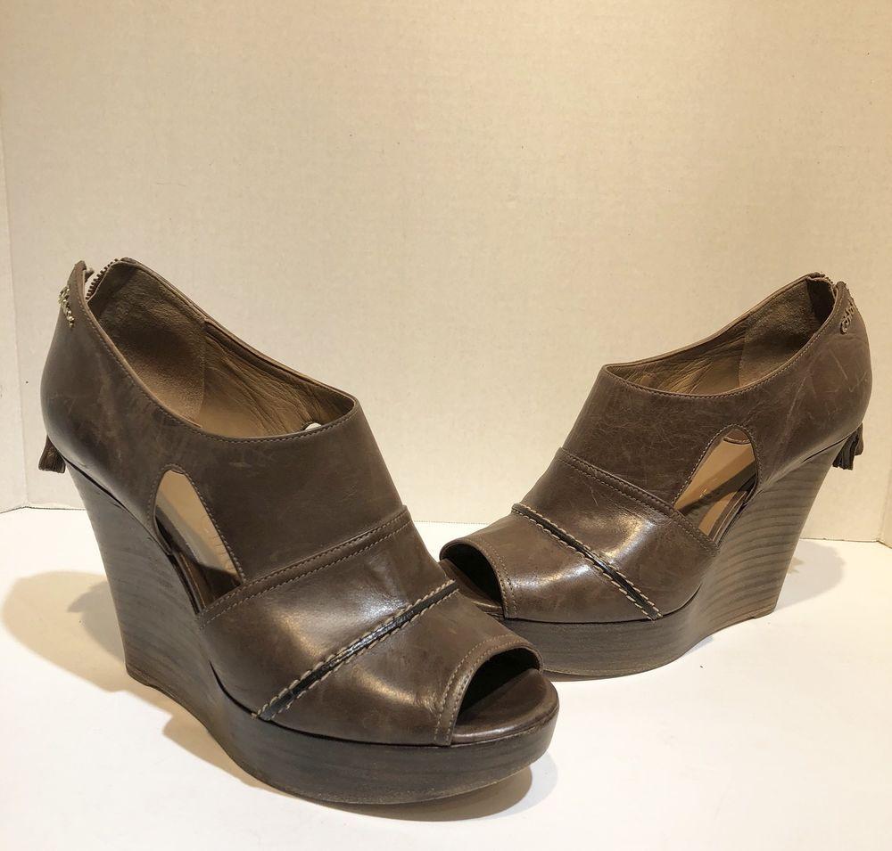 b7cb1788b44f68 chloe wood wedge peep toe heels size 38  Chlo  PlatformsWedges  Formal