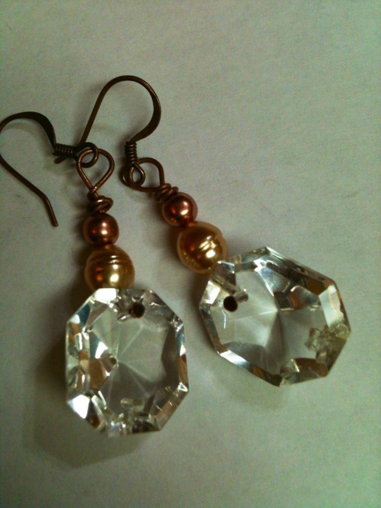 Chandelier crystal earrings
