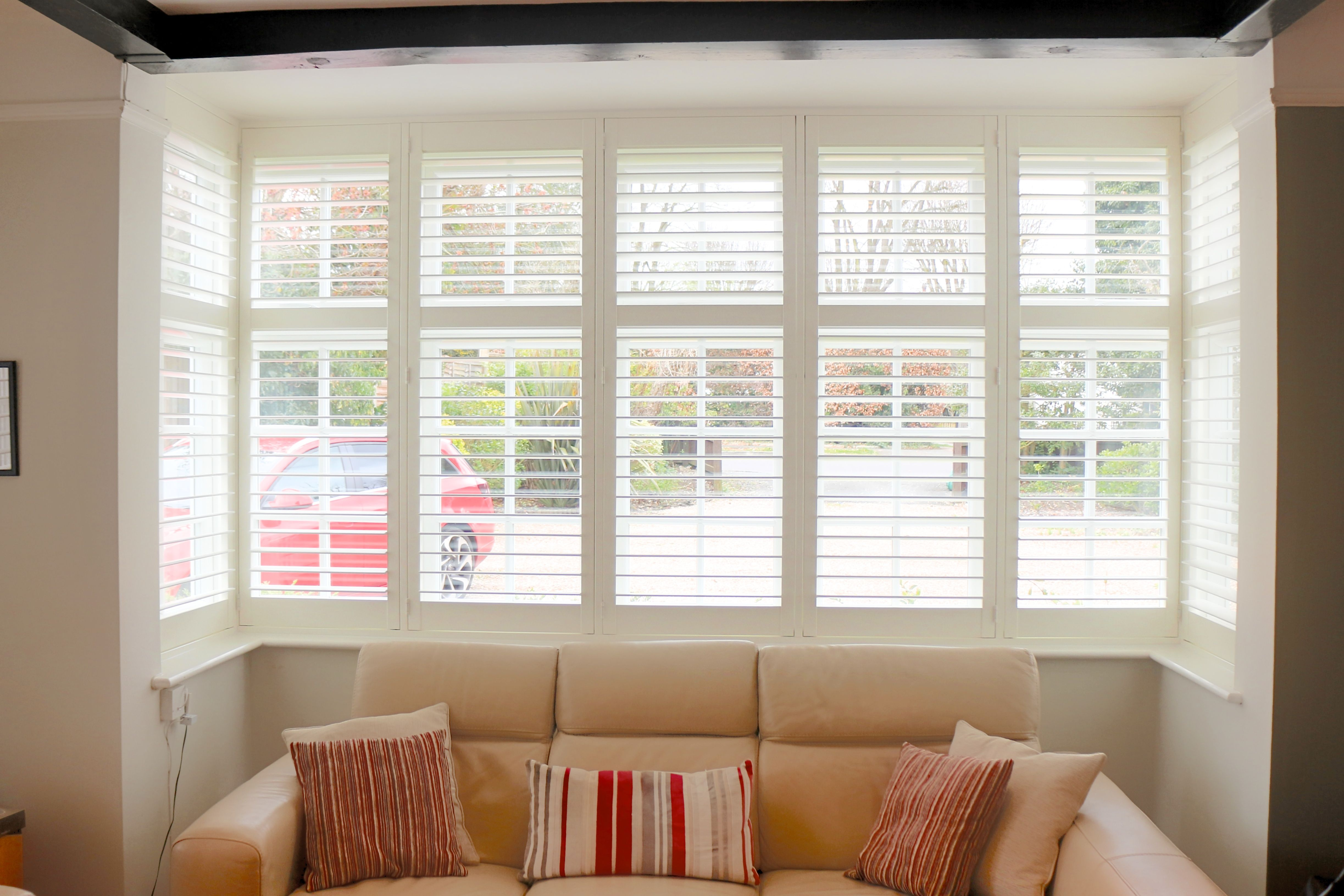 Full Height Shutters for Box Bay Window in South Croydon