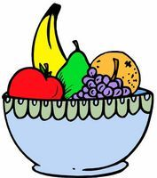 How to Draw a Fruit Bowl | Fruit bowl drawing, Fruits drawing, Fruits for kids