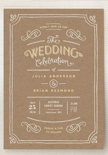 hand delivered wedding invitations | hand drawn, vintage inspired, Wedding invitations