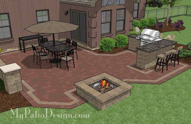 patio grill ideas 25 best outdoor grill area ideas on pinterest large brick patio design with - Patio Grill Ideas