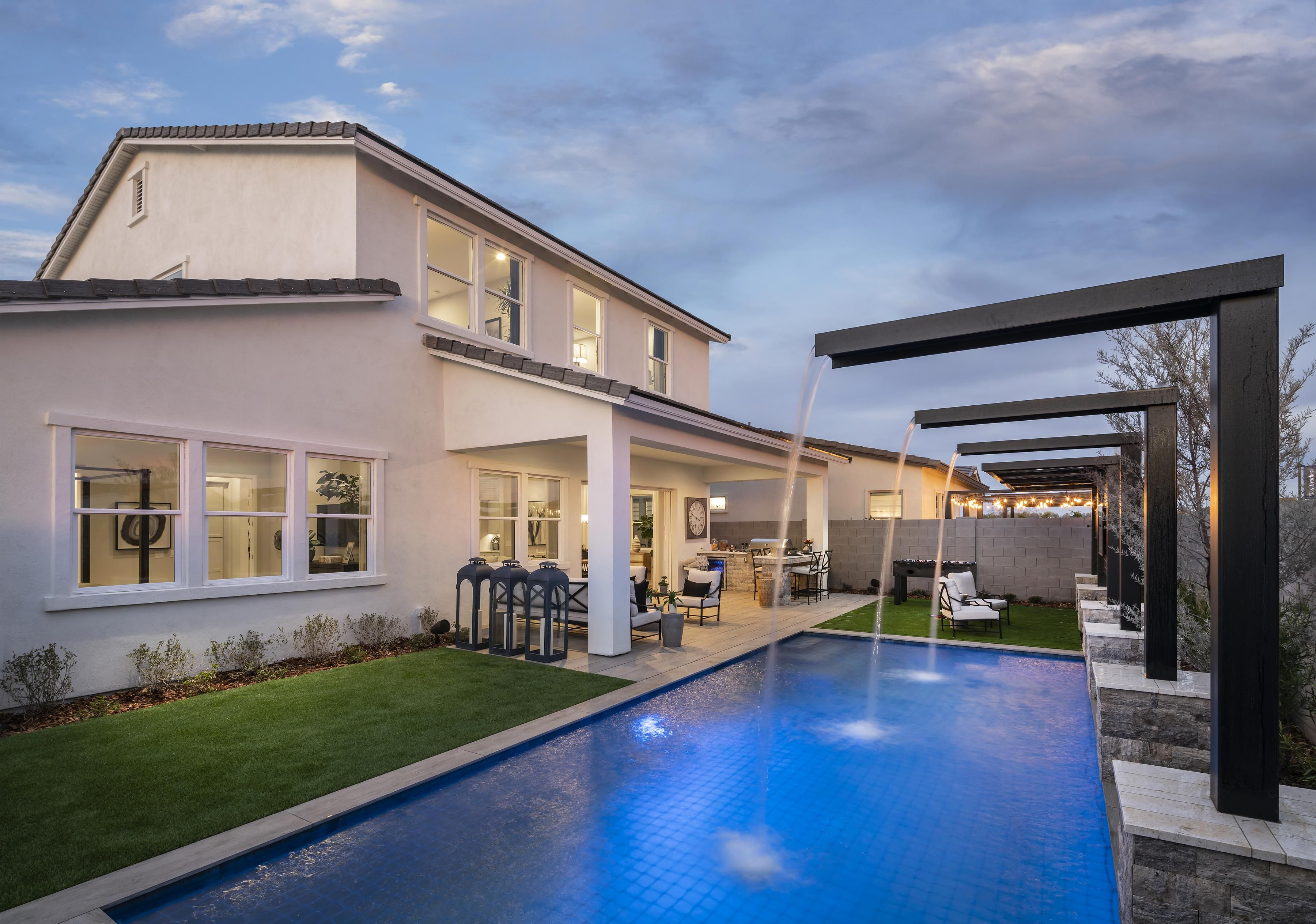 Live In Luxury With This Stunning Outdoor Patio With Plenty Of Room For Entertainment Luxury Homes Model Homes Modern Floor Plans