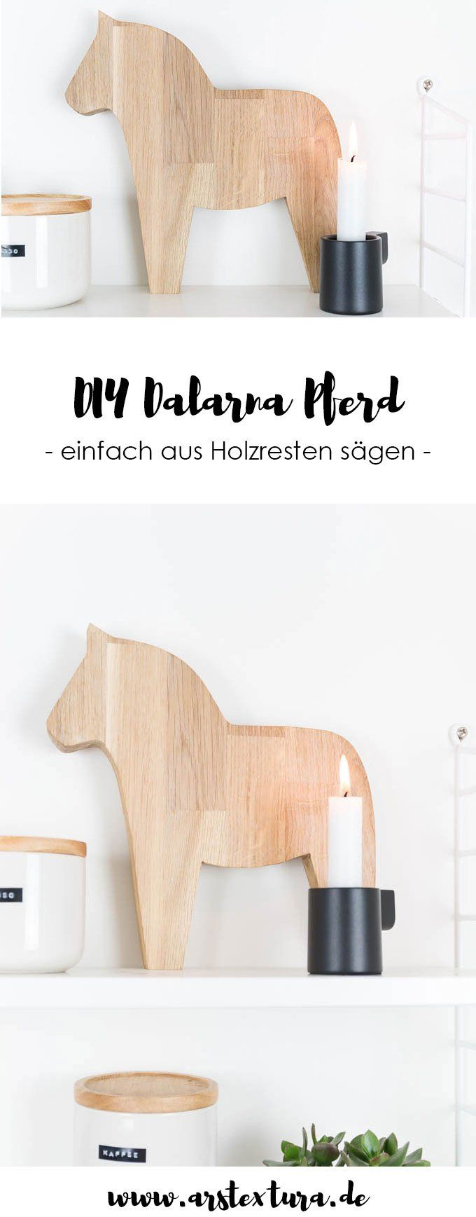 dalapferd aus holz s gen diy geschenk weihnachten deko geschenkideen basteln holz und. Black Bedroom Furniture Sets. Home Design Ideas