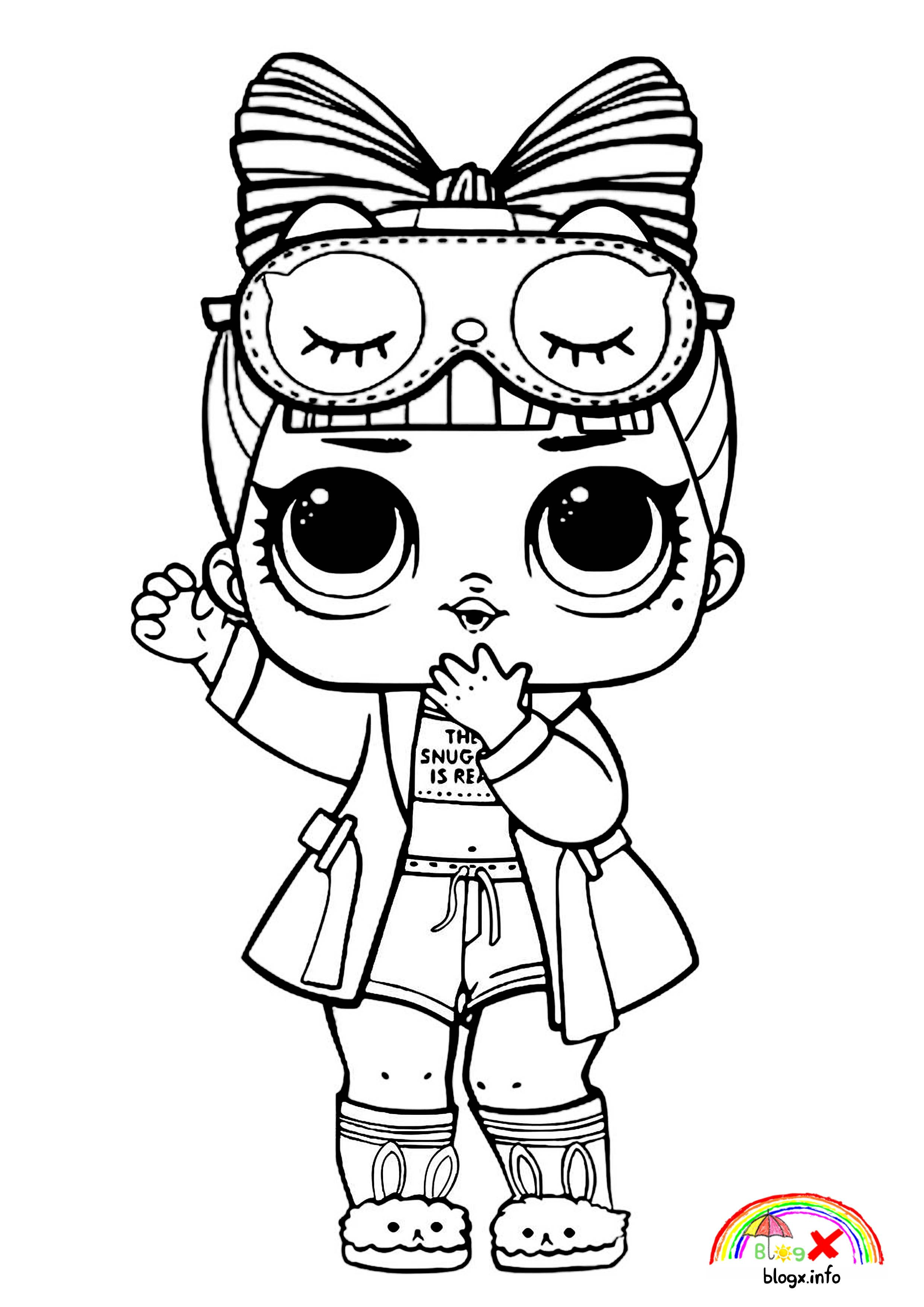 Surprise Lol Dolls Coloring Page Bunny Shoes Animal Coloring Pages Cute Kawaii Animals Coloring Pages