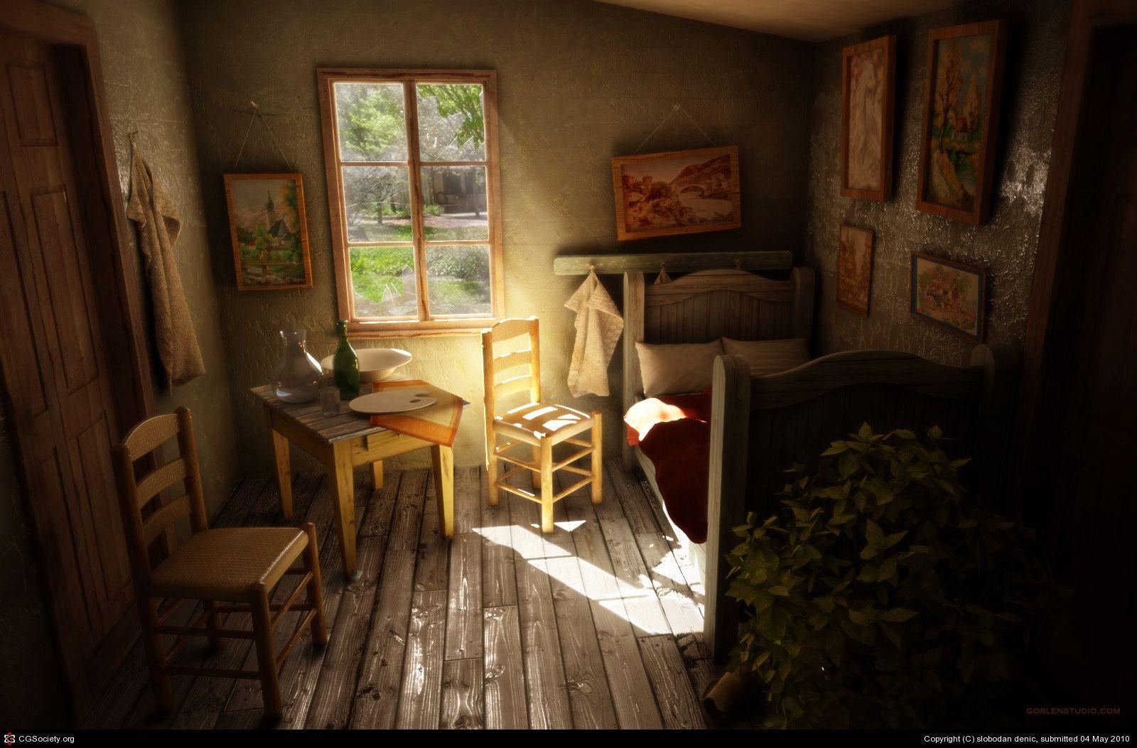 Bedroom In Arles V Van Gogh By Slobodan Denic 3d Cgsociety Van Gogh Bedroom In Arles Vincent Van Gogh,The Animals House Of The Rising Sun Chords Guitar