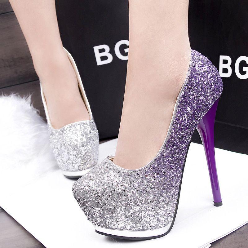 Elegant Shiny High Heels | Heels | Pinterest | Tacones, Zapatos y ...