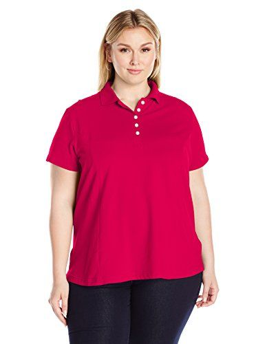 c91fd819f9b Women s Polo Shirts - Riders by Lee Indigo Womens Plus Size Morgan Short  Sleeve Polo Shirt     Check out the image by visiting the link.