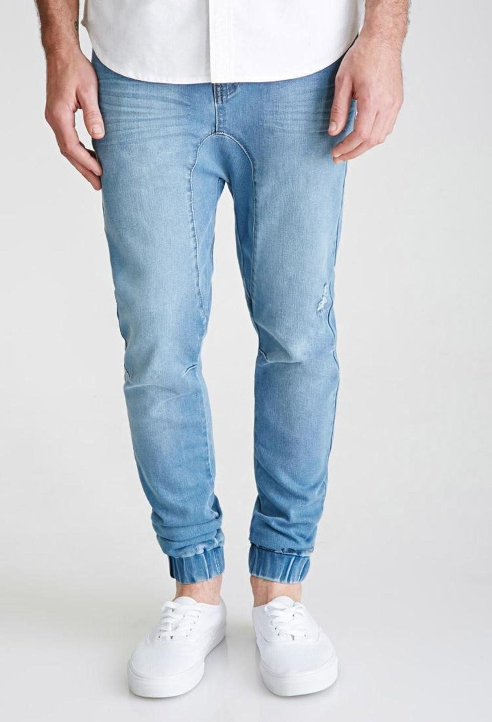 892cc456e36ece Pin by Not Yours on pants | Denim joggers, Denim jeans men, Light ...