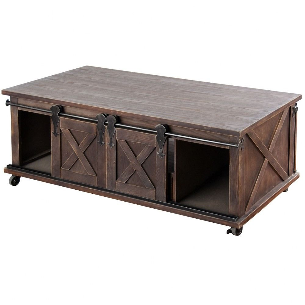 Farmhouse Style 24 Inch 2 Door 1 Drawer And Shelf Coffee Tabledark Brown Finish In 2021 Coffee Table Wood Door Coffee Tables Coffee Table With Storage [ 1000 x 1000 Pixel ]