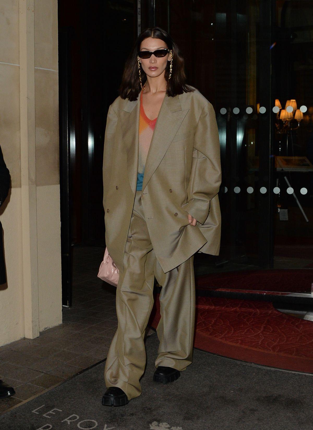 Photo of Bella Hadid Leaves Her Hotel in Paris 02/28/2020.