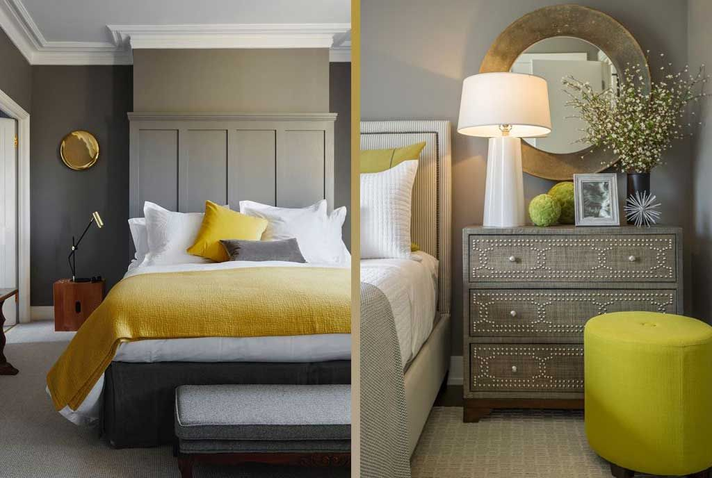 the grey and yellow room  decorating ideas  yellow