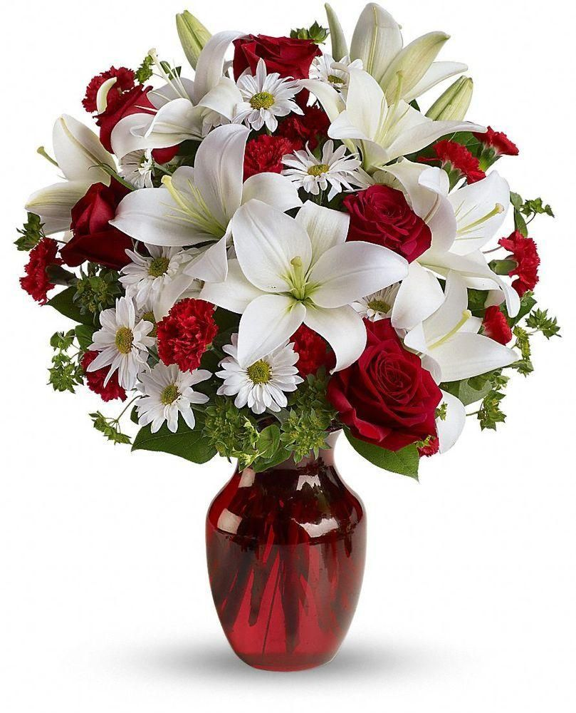 Wedding bouquets red and white roses  Teleflora Be My Love Bouquet  Valentines Day Goodies and More
