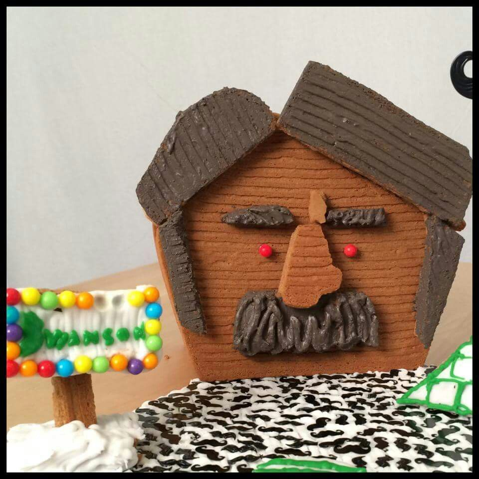 Ron Swanson Gingerbread House by Mustache Power Productions