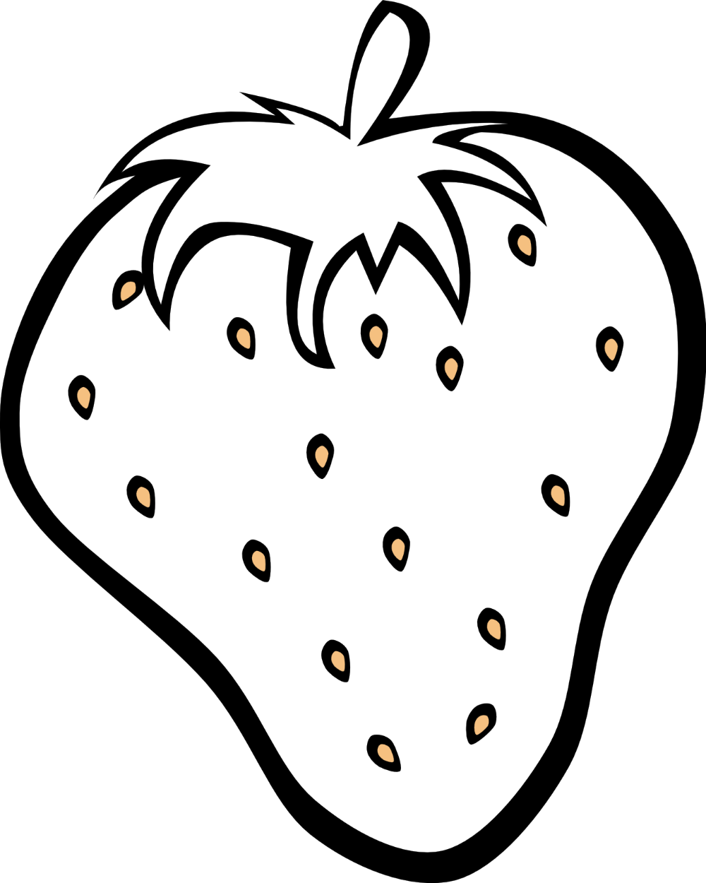 Strawberry Clipart Black And White Clip Art Library Fruit Coloring Pages Fruits Drawing Apple Coloring Pages