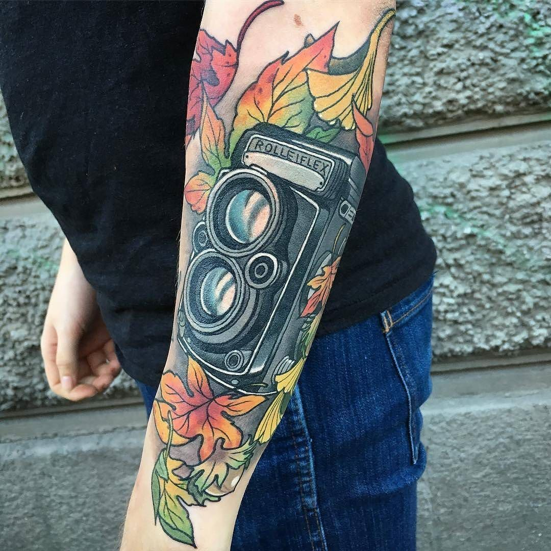 Rolleiflex By At Filthyswede At Kryptonite Tattoo In Gothenburg Sweden