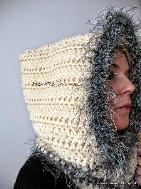 ElenaRegina lana: con capucha esquimal | Gorros y Bufandas ...
