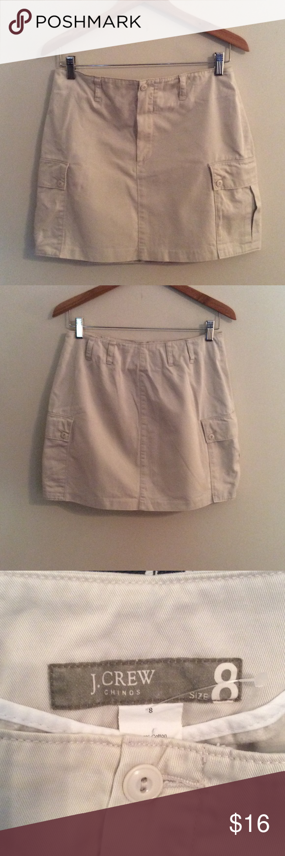 NWOT-J.Crew Khaki Skirt New Size 8 Adorable skirt. Never worn. Without retail tags. J. Crew Skirts Mini