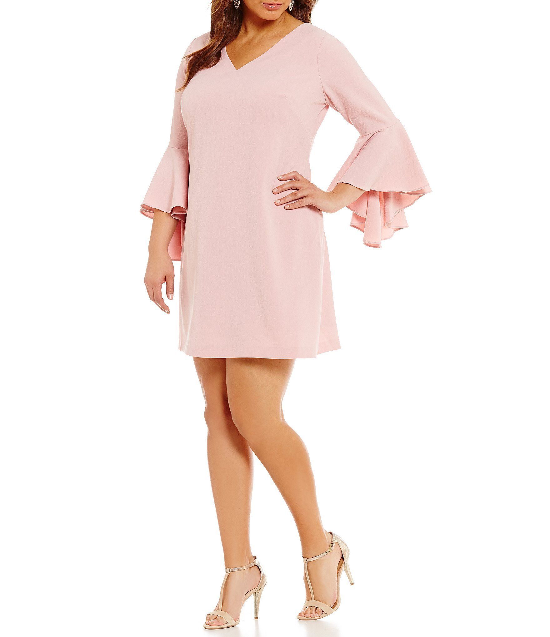 b121a1048d Shop for Eliza J Plus V-Neck Bell-Sleeve Dress at Dillards.com. Visit  Dillards.com to find clothing, accessories, shoes, cosmetics & more.