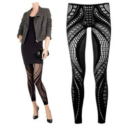 554b239918fb0 Alexander McQueen Eiffel Tower leggings ~ they look far more fun under a  dress/skirt than they do in that product pic!