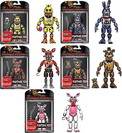 Funko Five Nights At Freddy S Series 2 Articulated 5 Quot Action Figures Set Of 5 Five Nights At Freddy S Freddy S Nightmares Freddy Toys