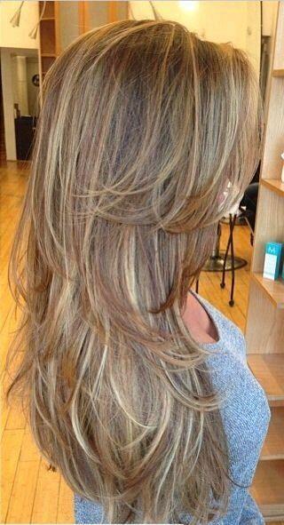 Cortes de pelo para mujer capas largas