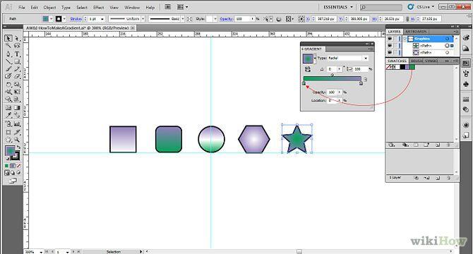 Make Gradients in Adobe Illustrator Illustration, Adobe