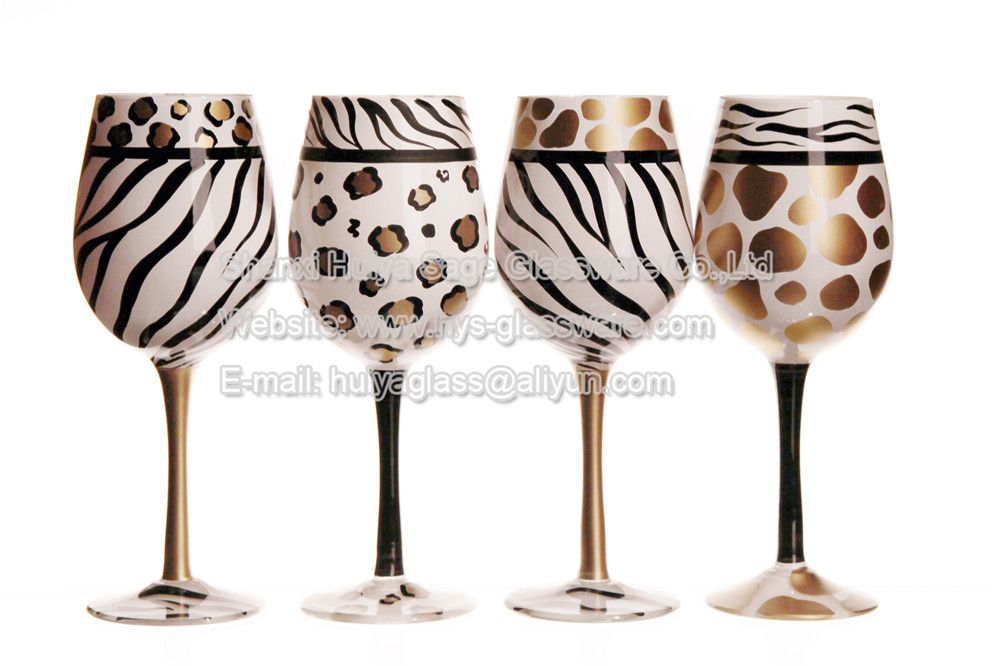 We Best Hand Painted Wine Gl Top Quality Leopard Zebra Red From China Manufacturer