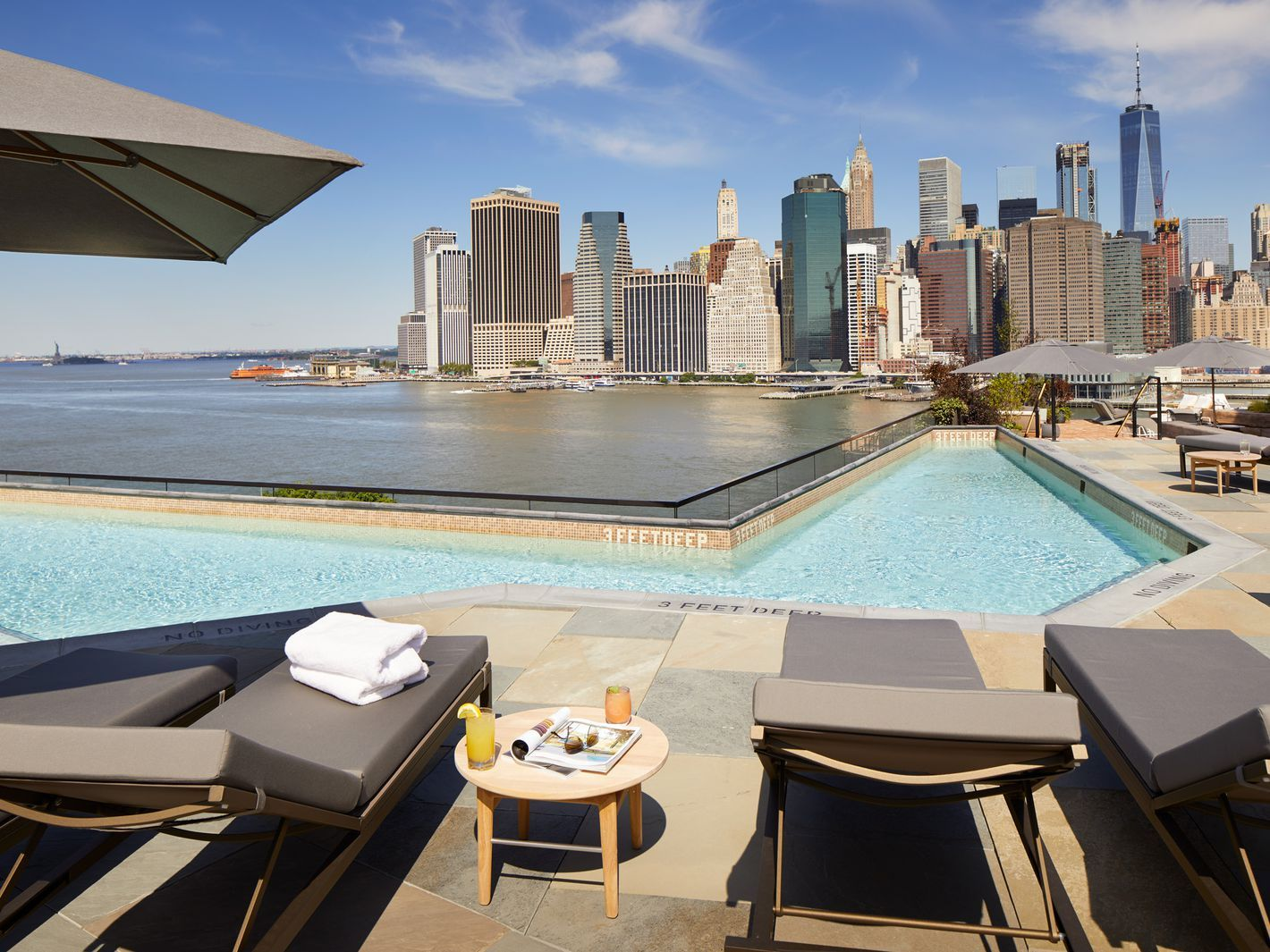 Where To Eat And Drink Poolside In New York Rooftop Bars Nyc Best Rooftop Bars Hotel Pool