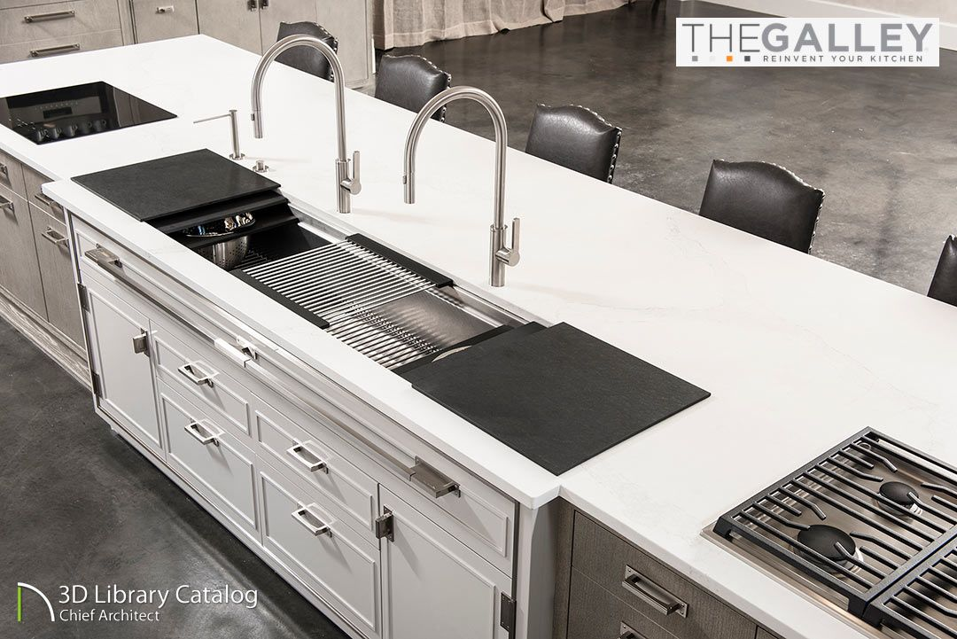 Reinvent Your Kitchen With The Galley Kitchen Workstations