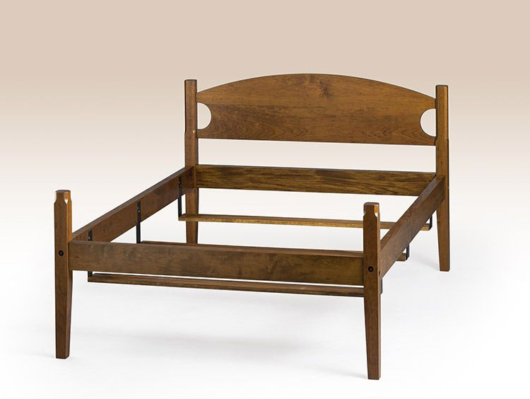 Post 1950 156308 Shaker Style Queen Size Bed Frame Cherry Wood