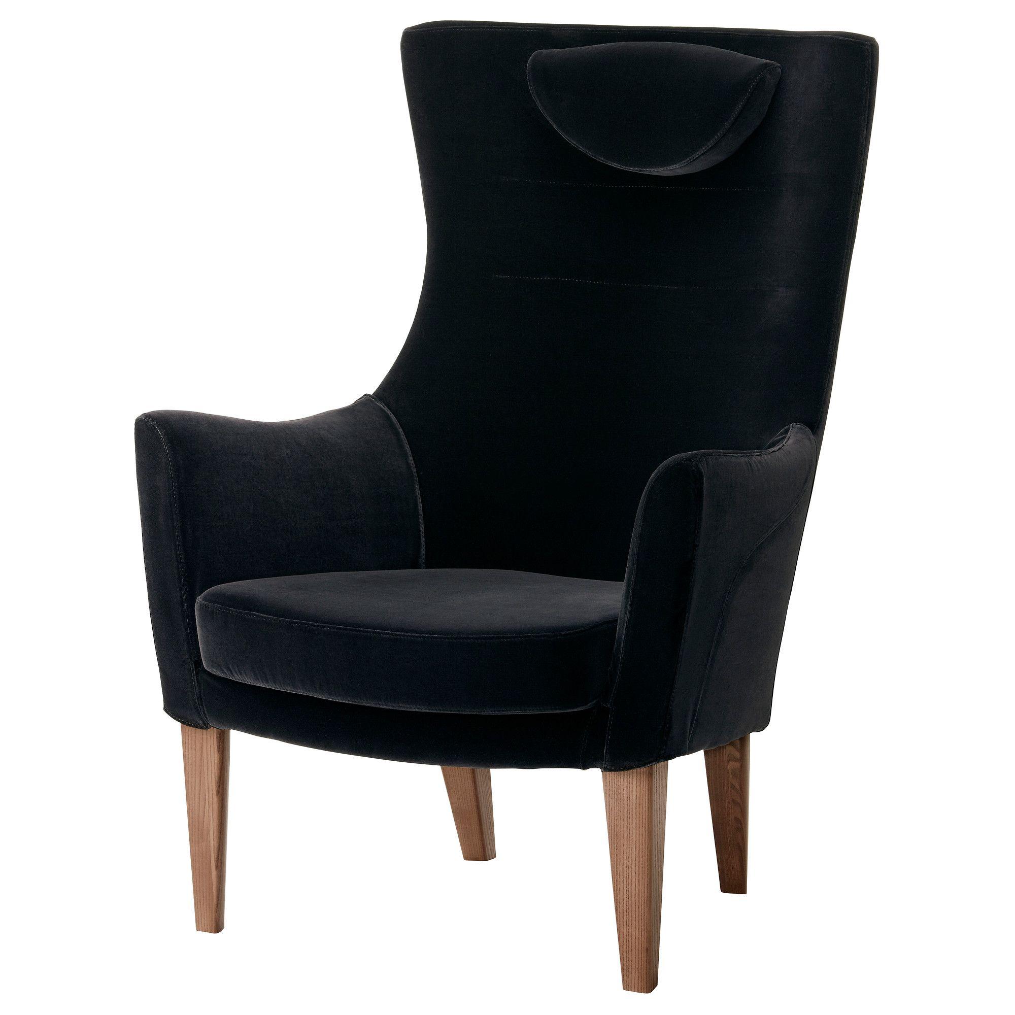 Stockholm High Back Armchair Sandbacka Black Ikea 599 Chairs
