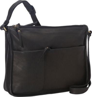 f888809bcfec Derek Alexander EW Twin Top Zip Semi Structured Handbag Black - via ...