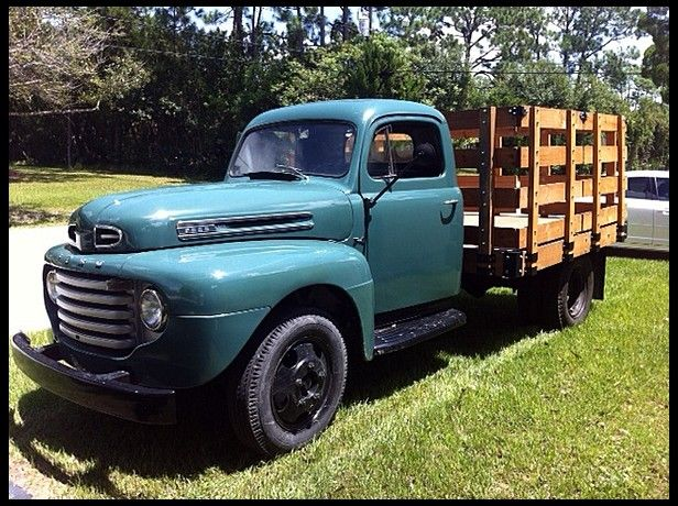 1949 Ford F4 Pickup Presented As Lot L5 At Kissimmee Fl 2013 Image1 Ford Trucks Lifted Chevy Trucks Trucks