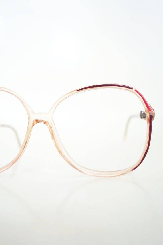 5cbd5954ff 1980s Pink Eyeglasses Vintage Womens Glasses Red Oxblood Maroon Clear  Transparent 80s Eighties Optical Frames Deadstock NOS New Old Stock