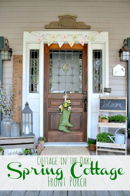 Spring Front Porch {2015 | DIY Ideas | Pinterest