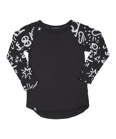 Another great find on #zulily! Black Doodles Raglan - Toddler & Kids by Mini & Maximus #zulilyfinds
